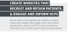 INFOSHEET 04: Create websites that recruit and retain patients, and engage and inform HCPs