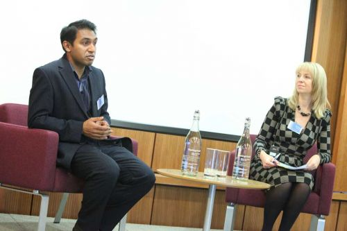 Shuva Saha, Google UK, speaking to Sarah Matthew