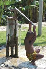 A water pump in Bangladesh