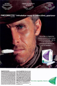 Nicorette inhalator advertisement