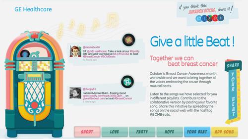 GE Healthcare Spotify jukebox breast cancer