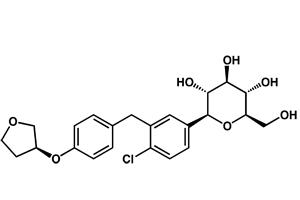 Empaglifozin molecule