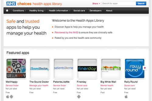 NHS health app library