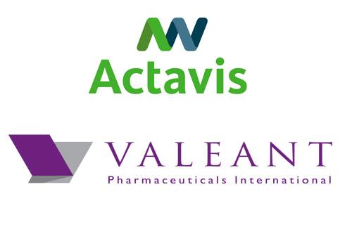 Actavis Valeant logo