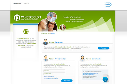 Roche cancercolon website Spain
