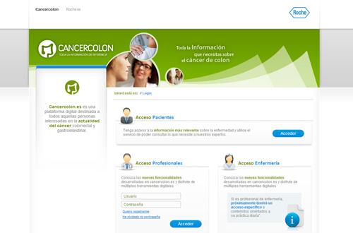 Roche cancercolon website Spain