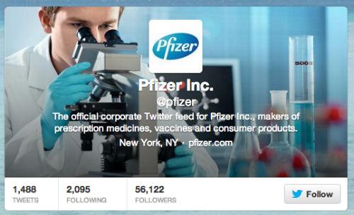 Pfizer Twitter