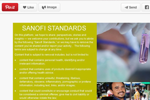 Sanofi US social media Pinterest