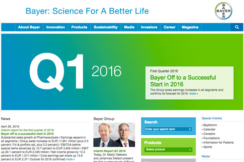Bayer website