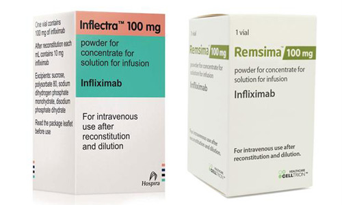 Remicade biosimilar Inflectra and Remsima