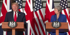Trump backtracks on 'NHS on the table' comments