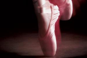 Ballet dancer's feet, on tip toes