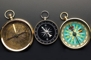 Three directional compasses