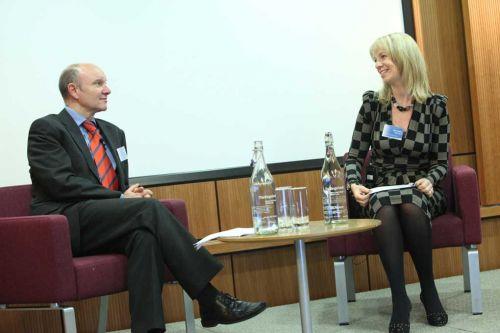 Steve Oldfield, sanofi-aventis, talking to Sarah Matthew