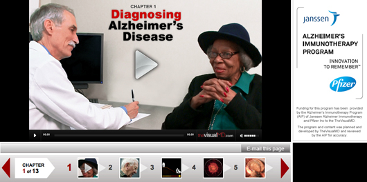 Pfizer Janssen Alzheimer's disease awareness video