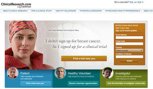 Quintiles clinical trial community ClinicalResearch