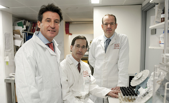 Lord Coe, Sir Andrew Witty - GSK Olympic doping lab