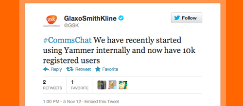 GSK Twitter chat