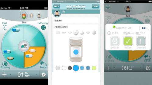 Medication reminder smartphone iPhone app