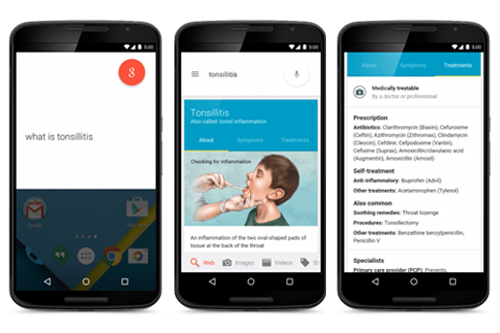 Google mobile health search