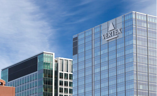Vertex logo building