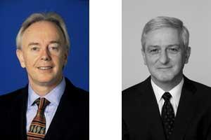 Martin J Higgins and Dr Jörg Reinhardt, Bayer Healthcare