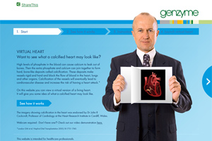Genzyme's Calcified Heart HCP page