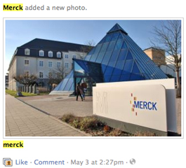 Merck KGaA Facebook page