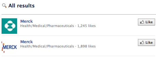 Merck KGaA Co Facebook pages