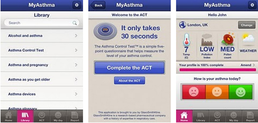 GSK asthma app for Android smartphones