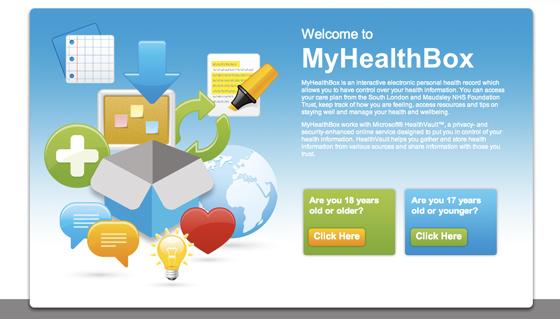 MyHealthBox NHS microsoft