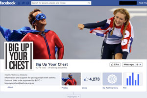 Laura Trott supports Asthma UK Facebook page