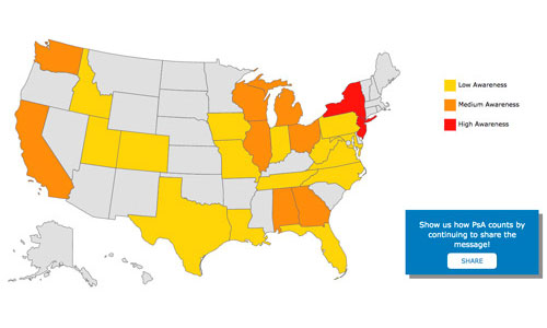 Celgene Uses Video Views Map In Arthritis Awareness Drive PMLiVE - Arthritis prevalence us map