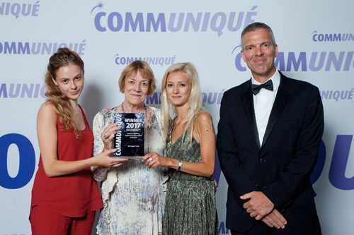 Communiqué Awards 2017 charity of the year patient group UK Sepsis Trust