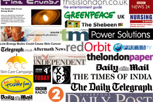 A collection of the logos of various media outlets