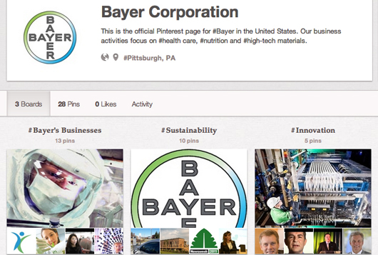Pharma company Bayer on Pinterest