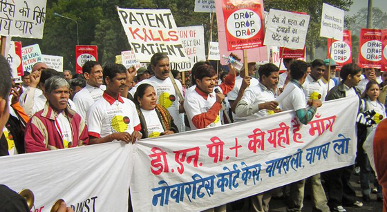 India Novartis Glivec protest MSF