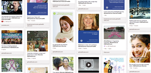 GE Healthcare cancer Pinterest board