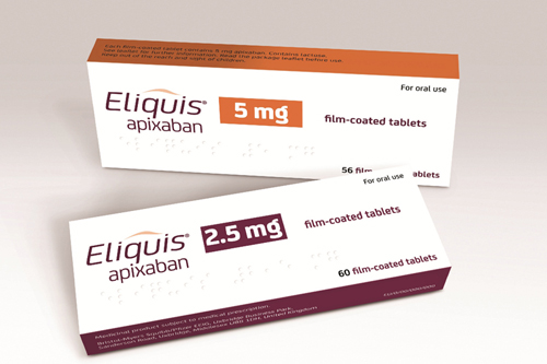 Pfizer BMS Eliquis apixaban atrial fibrilation