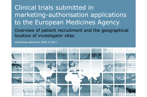Clinical trials submitted in marketing-authorisation applications to the European Medicines Agency
