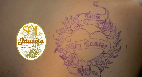 Skin cancer tattoo campaign in Brazil