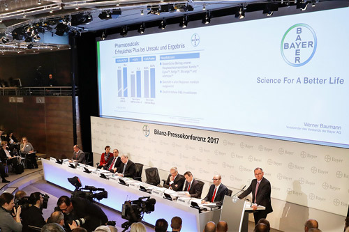 Bayer 2017 annual results press conference