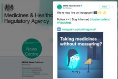 MHRA joins Instagram as part of Yellow Card drive