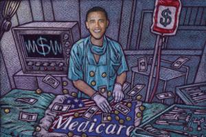 Illustration of Obama