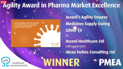 Accord Healthcare's COVID-19 agility praised at PMEA 2020