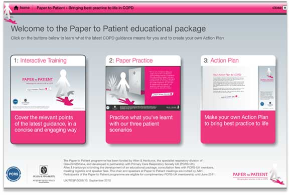 Image from the Paper to Patient HCP education programme