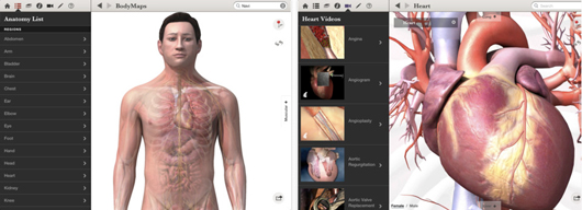 GE Healthcare Body Maps iPad app