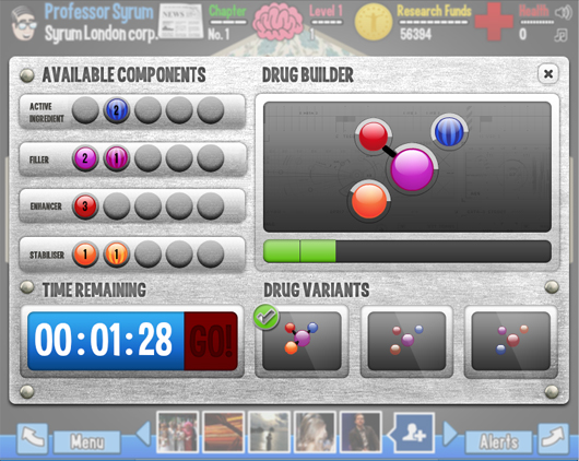 Boehringer Ingelheim Facebook game Syrum drug builder
