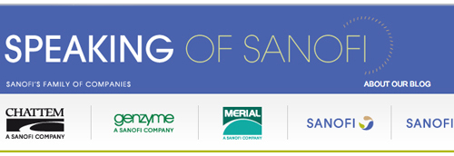 Sanofi's corporate blog Speaking of Sanofi
