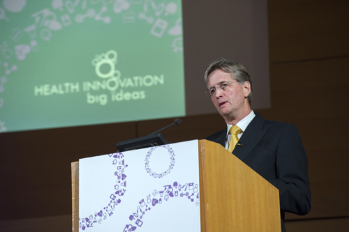 Kingsley Manning, HSCIC chair, speaking at OPEN Health's Big Ideas event
